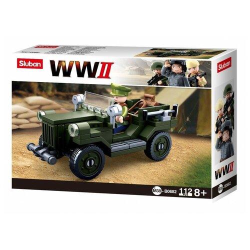 Конструктор SLUBAN WW2 M38-B0682 ГАЗ 67 конструктор sluban ww2 m38 b0682 газ 67