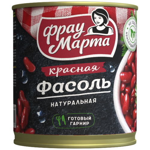 Фасоль Фрау Марта красная в собственном соку, 310 г