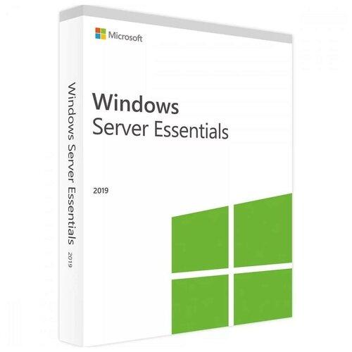 Microsoft Windows Server 2019 Essentials 64-bit OEM (2 ядра), лицензия и носитель, английский, срок действия: бессрочная, DVD