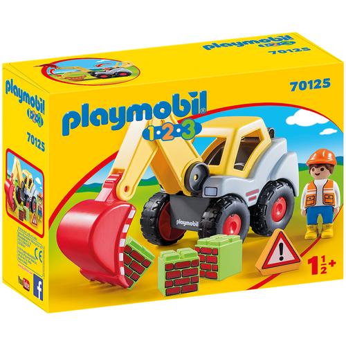 Купить Конструктор Playmobil 1-2-3 70125 Экскаватор, Конструкторы