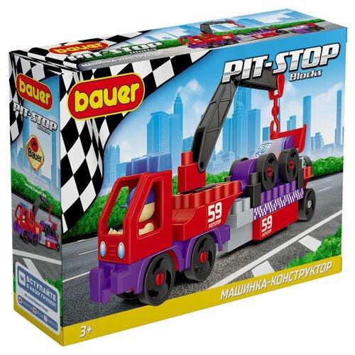 Купить Конструктор Bauer Pit-Stop 815 Эвакуатор и Гоночная машина, Конструкторы