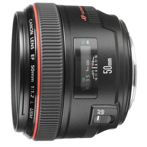 Объектив Canon EF 50mm f/1.2L USM черный