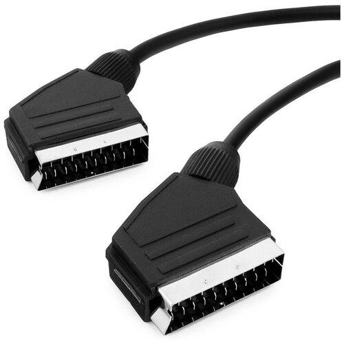 Кабель Cablexpert SCART - SCART (CCV-518) черный, 3 м