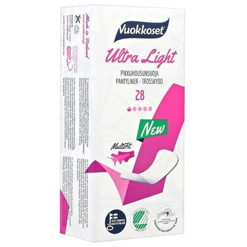 Vuokkoset прокладки ежедневные Ultra Light, 1 капля, 28 шт.