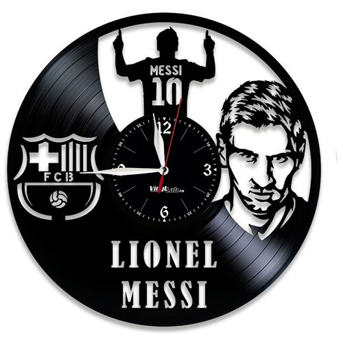 Часы из виниловой пластинки (c) VinylLab Месси