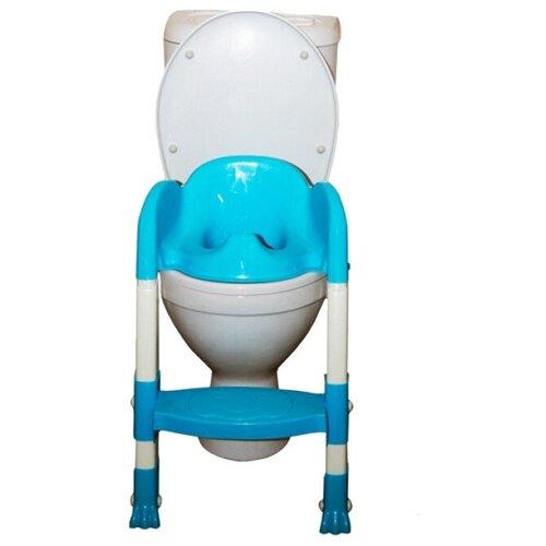 ROXY-KIDS накладка на унитаз с ножками и ступенькой BPT-6815 голубой