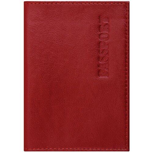 Обложка для паспорта BRAUBERG 237187/237178, красный
