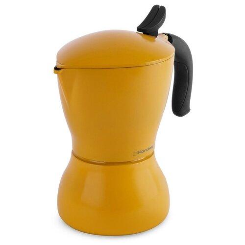 Гейзерная кофеварка Rondell Sole RDA-1116/RDS-1116 (450 мл), желтый недорого
