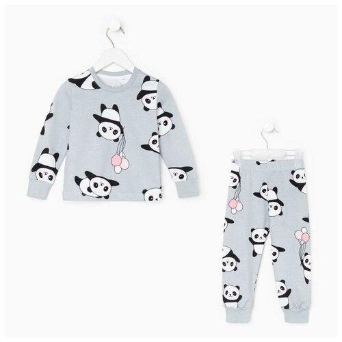 Купить Пижама Kaftan размер 122-128, серый, Домашняя одежда