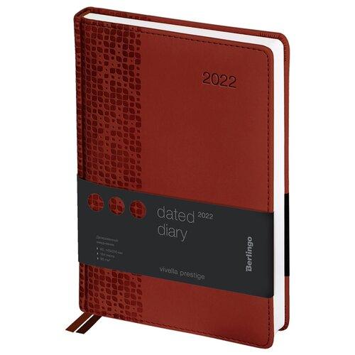 ежедневник датированный 2018 index agent кожзам линия а5 168 листов коричневый Ежедневник Berlingo Vivella Prestige датированный, искусственная кожа, А5, 184 листов, коричневый