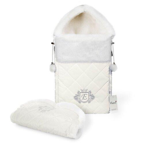 Комплект Esspero Elvis (конверт + муфта) 65 см milky конверты для новорожденных esspero зимний конверт и муфта elvis