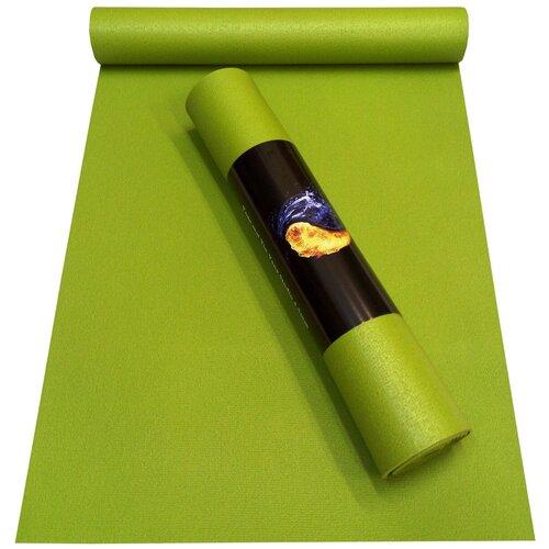 Коврик RamaYoga Yin-Yang Studio, 173х60х0.45 см зеленый однотонный