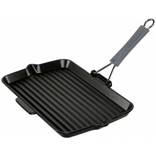 Фото - Сковорода-гриль Staub Cast Iron, 34х21 см, черный сковорода staub 12302423 24 см