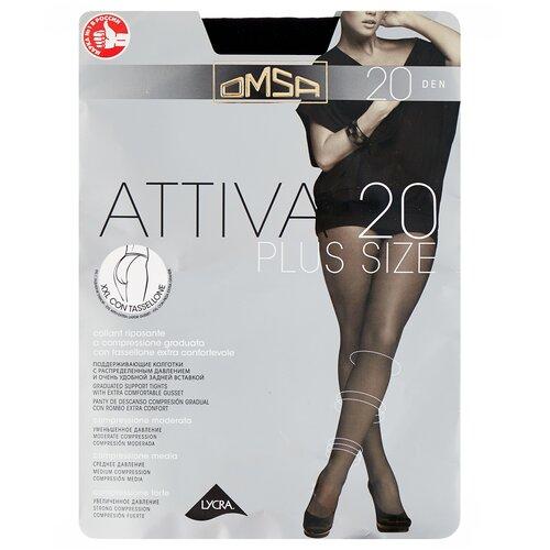 Колготки Omsa Attiva Plus Size, 20 den, размер 6-XXL, nero (черный)