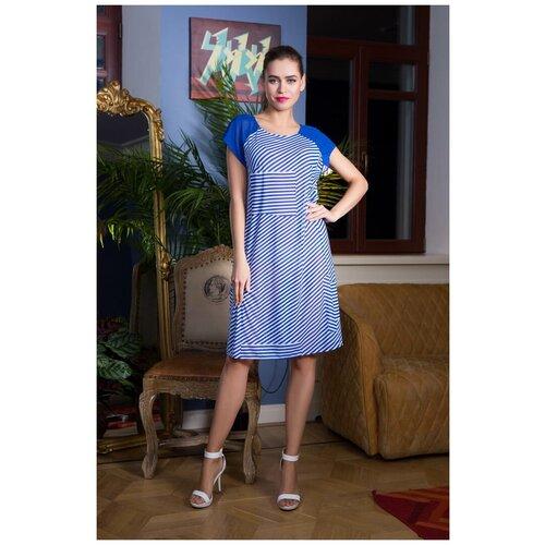 Пляжная туника Mia-Mia Linna, размер XL(50), синий/белый