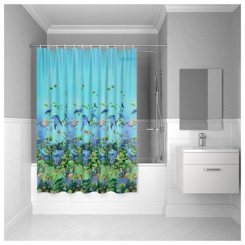 Штора для ванной комнаты, 180*180см, PEVA, P22PV11i11, IDDIS штора для ванной комнаты 180 180см peva p27pv11i11 iddis