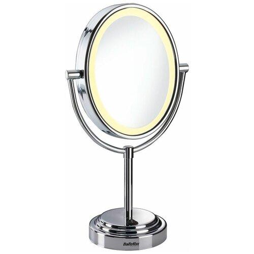 Зеркало косметическое настольное BaByliss 8437Е с подсветкой хром