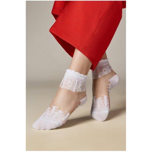 Капроновые носки Mersada Лавиния 206099, размер 35-39, белый