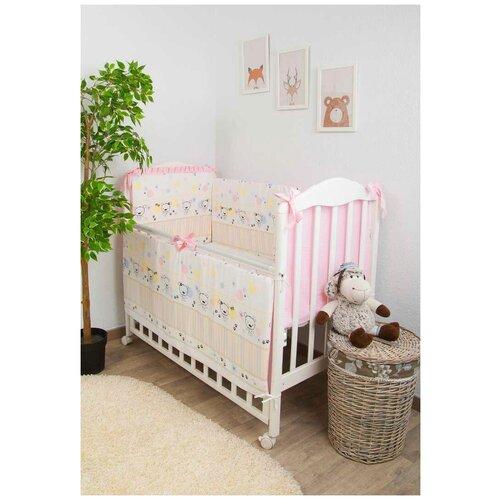Фото - Сонный Гномик бортик Конфетти розовый комплекты в кроватку сонный гномик конфетти 6 предметов
