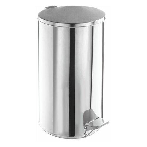 Фото - Урна для мусора с педалью, УСИЛЕННОЕ, ТИТАН, 40 литров, кольцо под мешок, нержавеющая сталь, хром урна для мусора лайма настольная с качающейся крышкой нержавеющая сталь матовая 601618