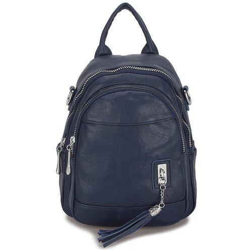 Маленькая женская сумка-рюкзак «Элли Soft» 1256 Blue