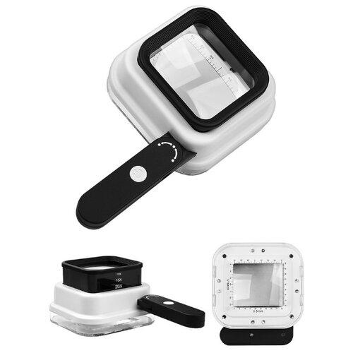 Фото - Лупа Kromatech TH-8016 10х/15x/20x-55мм с подсветкой + ультрафиолет 8 LED 23149b298 микроскоп кроматек mg10081 8 серебристый