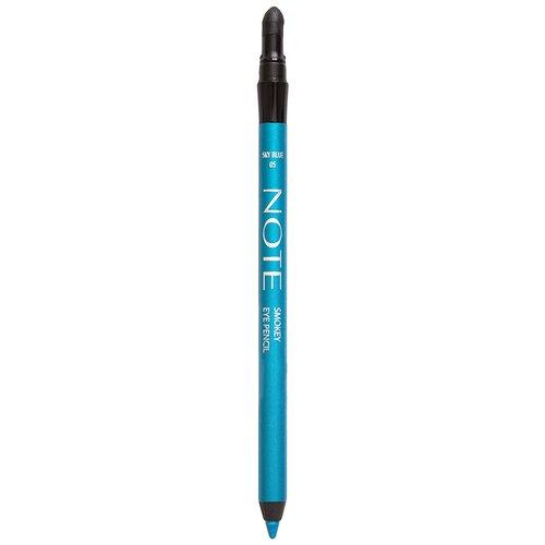 Фото - Note Карандаш для глаз Smokey Eye Pencil, оттенок 05 Sky Blue note smokey eye pencil