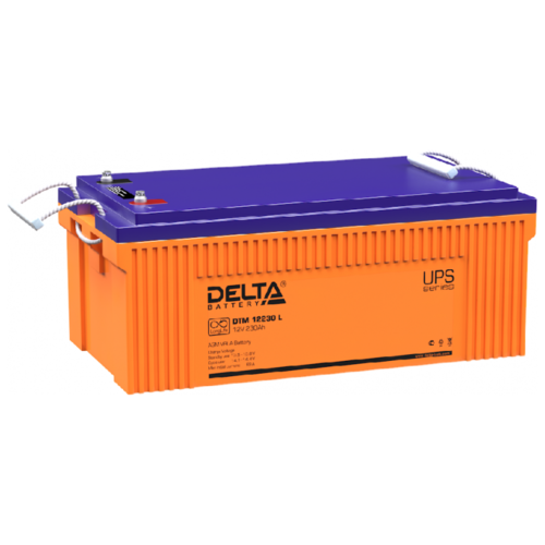 Аккумуляторная батарея DELTA Battery DTM 12230 L 230 А·ч аккумуляторная батарея delta battery dtm 1233 i 33 а·ч