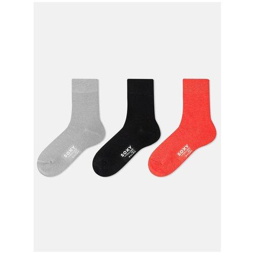 Женские носки SOXY (3 пары в пластиковой коробке) S701