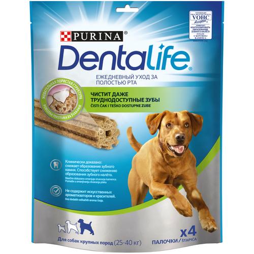 Лакомство для собак Dentalife Уход за полостью рта для крупных пород, 4 шт. в уп.