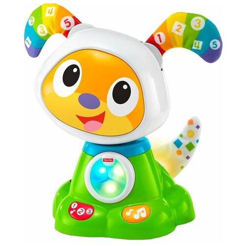 Фото - Интерактивная развивающая игрушка Fisher-Price Танцующий щенок Робота Бибо (FBC96), зеленый обучающий робот fisher price бибо