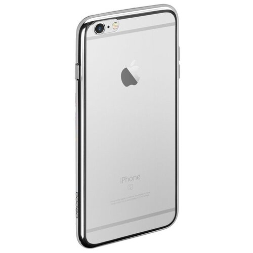 Чехол-накладка Deppa Gel Plus Case для Apple iPhone 6/iPhone 6S серебристый недорого