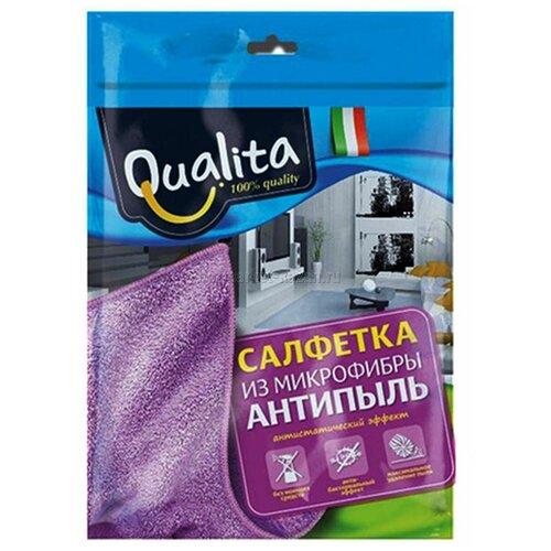 Салфетка из микрофибры Qualita Антипыль, фиолетовый салфетка из микрофибры qualita антипыль 1 мл