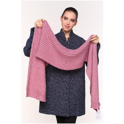 Шарф женский, бренда Sophie Ramage, крупной вязки, розовый.