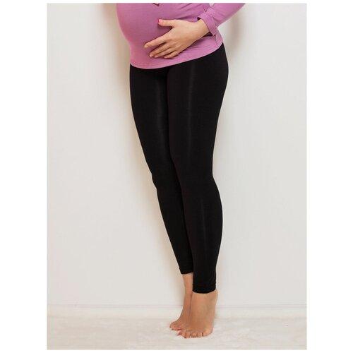 Леггинсы Viva Mama черные на живот для беременных (42)