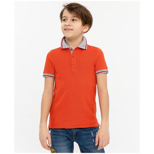 Купить Поло Button Blue, размер 98, красный, Футболки и майки