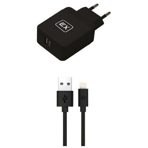 Фото - Зарядное устройство Exployd Sonder 1xUSB 2.4A/2.4A QC3.0 + Cable Lightning Black EX-Z-624 зарядное устройство exployd sonder 2xusb 3 4a white ex z 775