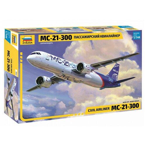 Купить Сборная модель ZVEZDA Пассажирский авиалайнер МС-21-300 (7033) 1:144, Сборные модели