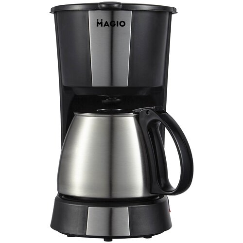 Кофеварка капельная Magio МG-961, черный/серебристый