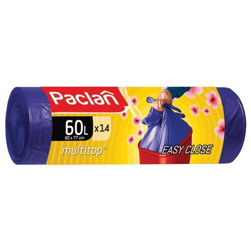 Фото - Paclan Multitop Aroma Мешки для мусора ПНД фиолетовый 60 л. 14 шт. в рулоне мешки для мусора ароматизированные 35 л ушки желтые 20 шт пвд 66х50 см paclan multitop aroma 136881