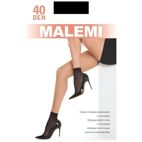 Капроновые носки Malemi Miami 40, 2 пары, размер ONE SIZE, nero