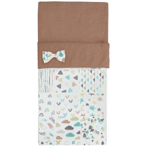 Купить Спальный мешок детский Amarobaby Magic Sleep Абстракция, белый/коричневый (перкаль), Конверты и спальные мешки