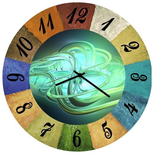 SvS Настенные часы SvS 3002105 Зеленая абстракция