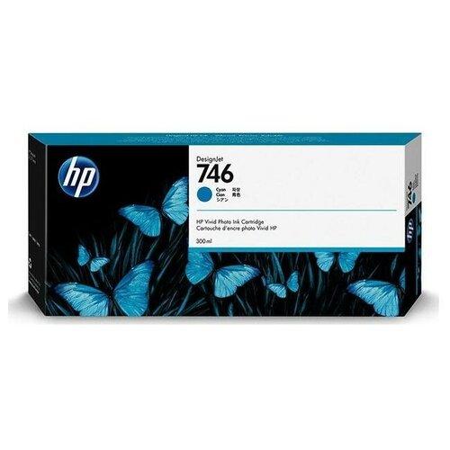Фото - HP P2V80A Картридж оригинальный 746 синий (голубой) Cyan 300 мл для DesignJet Z6, Z6 DR VT, Z9+ Z9, Z9+ DR VT принтер hp designjet z6 44 in