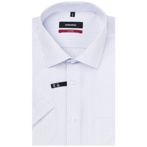 Рубашка Seidensticker размер 44 голубой/белый