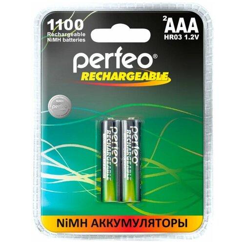 Фото - Perfeo AAA1100mAh/2BL Аккумулятор Пластик аккумулятор perfeo aa2500mah 2шт