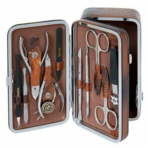 Фото - Маникюрный набор Zinger MS 1201-804 S с косметичкой, 10 предметов маникюрный набор с косметичкой zinger ms 1205 804 s 10 предметов