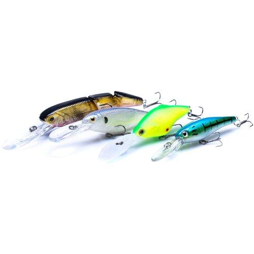 Приманки для рыбалки, 4 шт, воблеры для рыбалки, набор приманок, все для рыбалки, товары для рыбалки