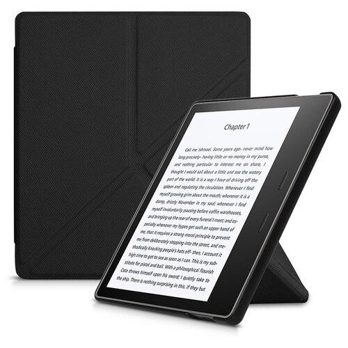 Чехол-обложка футляр MyPads для Amazon Kindle Oasis 2 (2017) 3G из качественной эко-кожи тонкий с магнитной застежкой черный