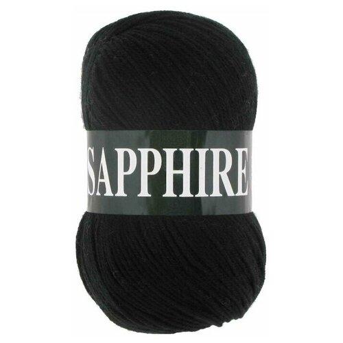 Фото - Пряжа Vita Sapphire, цвет Черный, 5 мотков пряжа vita пряжа vita harmony цвет 6324 серый